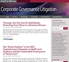 Corporate Governance Litigation