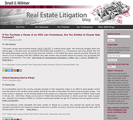 Real Estate Litigation Blog